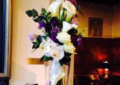 purple corporate flowers