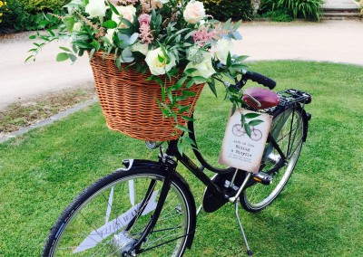vintage bicycle flowers