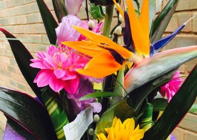 bright floral design